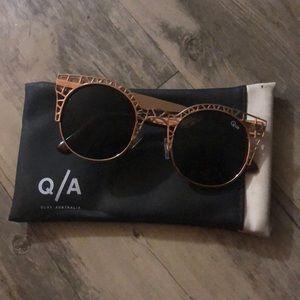 Quay Australia Fleur Gold Sunglasses